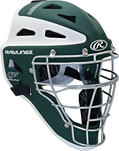 Rawlings Sporting Goods Youth Velo Series Catchers Helmet, Dark Green/White, 6 1/2-7 Dark by Rawlings
