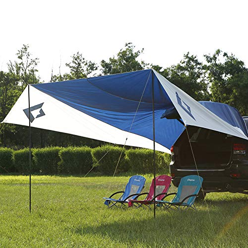 sale retailer 17c37 d8b46 KingCamp Awning Sun Shelter XL (13' x 16') Portable Waterproof Durable Tarp  Canopy Camper Trailer Tent Roof Top for Beach, SUV, Camping, Event - The ...