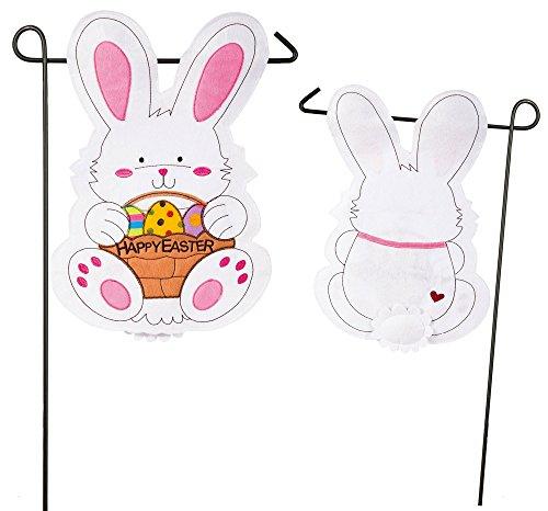 - Evergreen 16F8510FB Easter Bunny Outdoor-Safe Felt Garden Flag, 12.5