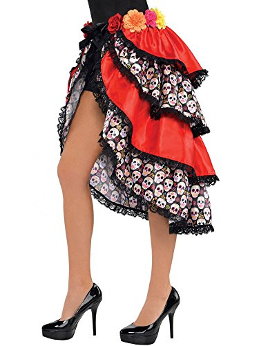 (Amscan Day of The Dead Tie-On Bustle One Size,)