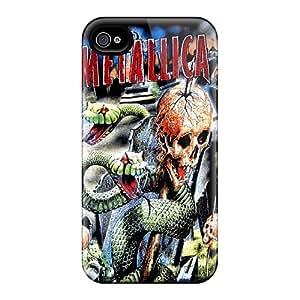 JamieBratt Iphone 4/4s Anti-Scratch Hard Phone Covers Unique Design HD Metallica Series [hYI3742Xuqj]