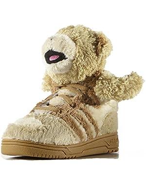 ObyO JS Jeremy Scott Bear Fur S77810 Teddy Fleece Tan Infants kids Shoes