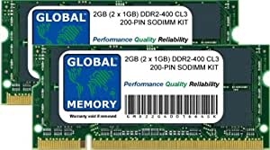 2GB (2 x 1GB) DDR2 400MHz PC2-3200 200-PIN SODIMM MEMORIA RAM KIT PARA ORDENADOR PORTÁTILES/NOTEBOOKS