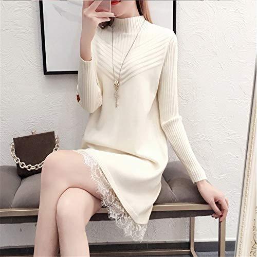 Da Glamour Caldo Lungo Abito Grande Bianco Slim Shirloy Sottile Sexy Maglione Donna qwTxCa