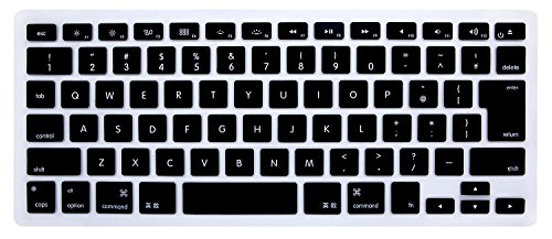 HRH JP Keyboard Cover Black Silicone Skin for MacBook Air 13