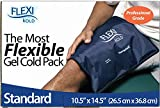 "FlexiKold Gel Ice Pack (Standard Large: 10.5"" x 14.5"") - One (1) Reusable Cold Therapy Pack (For pain and injuries, wrap around Knee, Shoulder, Foot, Back, Ankle, Neck, Hip, Wrist) - 6300-COLD"