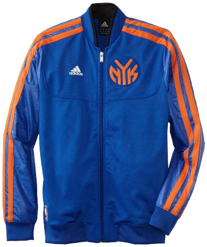 Warm Up Uniforms (NBA New York Knicks On-Court Warm-Up Jacket Home Weekday, Small,)