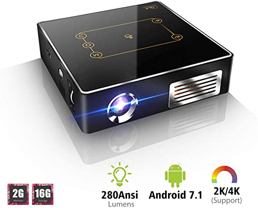 WZHESS Mini proyector de Bolsillo con Panel táctil Android 7.1 ...