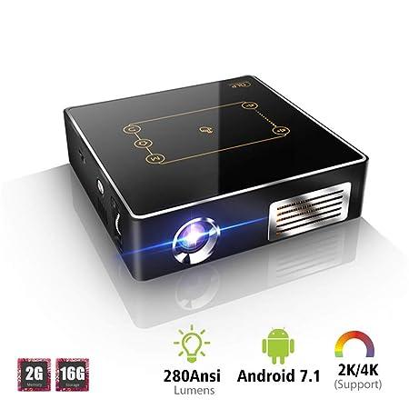 ZDNP Mini proyector de Bolsillo con Panel táctil Android 7.1 ...