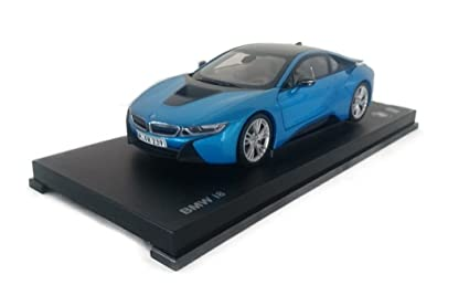 Amazon Com Bmw I8 Metallic Blue Model Car Ready Made I Paragon