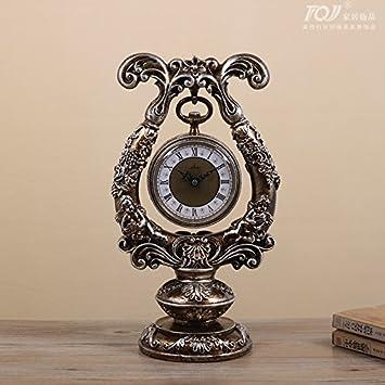 Breguht Continental Retro Clock Ornament Home Möbel Sitzen Stumm