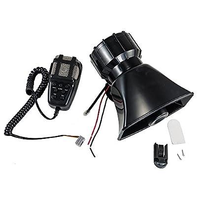 100W 12V 7 Sound Car Truck Alarm Police Fire Loud Speaker PA Siren Horn MIC System Kit