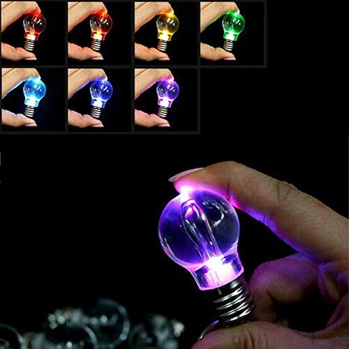 Mini Key Colour (Led Flashlight - 12 Colors Bulb Lamp Outdoor Camping Led Keychain Flashlight - Keychain Colors Cute Flash Light Flashlight Mini Change Chain Ring Flashlights - Le Led Key - 1PCs)