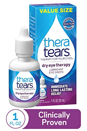 TheraTears Eye Drops for Dry Eyes, Dry Eye Therapy Lubricant Eyedrops, Provides Long Lasting Relief, 30 mL, 1 Fl Oz…