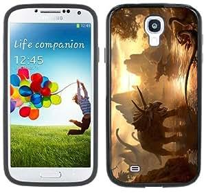 Dinosaurs Jurassic Handmade Samsung Galaxy S4 Black Bumper Hard Plastic Case
