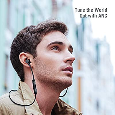 Wireless TaoTronics Bluetooth Headphones Active Noise Canceling ANC, Magnetic Design Earphones Built-in Mic Bluetooth 4.2 Earbuds for iPhone