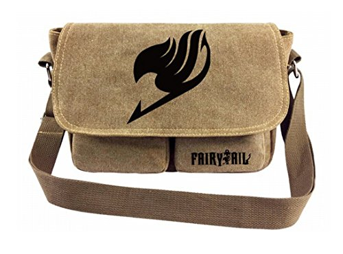 Fairy Tail Bag (Gumstyle Anime Fairy Tail Cosplay Canvas Shoulder Bag Crossbody Sling Bag Satchel for Boys and)