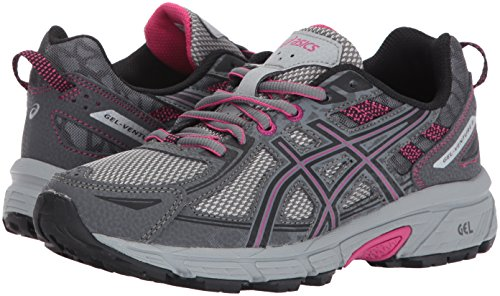 ASICS Women's Gel-Venture 6 Running-Shoes,Carbon/Black/Pink Peacock,9 Medium US by ASICS (Image #6)