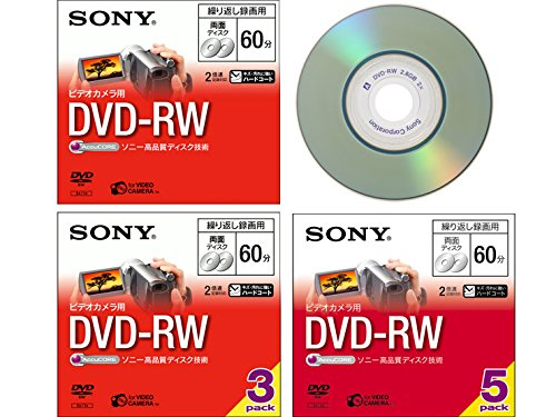 [TERNS]For Sony video camera 8cmDVD-RW 60 minutes three 3DMW60A Japan Import