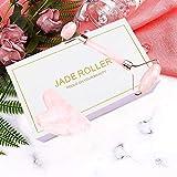 BAIMEI Jade Roller, Rose Quartz Face Roller & Gua