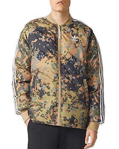 Jacket Adidas Reversible (adidas Originals Men's Pharrell Williams hu Hiking Reversible Camo SST Jacket (L, Hemp/Multicolor))
