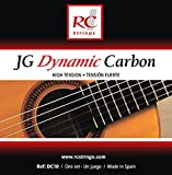 Royal Classics DC10 JG Dynamic Carbon Nylon Guitar Strings, High-Tension