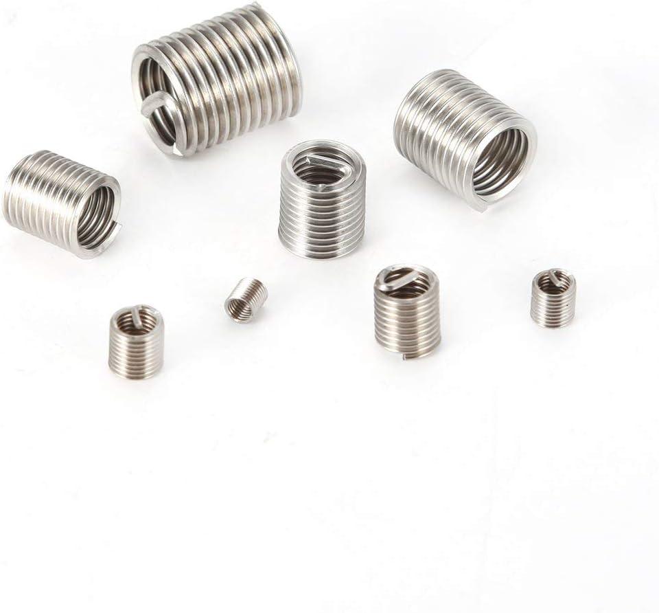 Lorenlli 60PCS Gewindeeins/ätze M3 bis M12 Edelstahldraht Helicoil-Befestigungselemente Hardware-Reparaturwerkzeuge Schraubenh/ülsensatz
