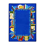 Joy Carpets Kid Essentials Language & Literacy Read to Succeed Rug, Multicolored, 7'8'' x 10'9''