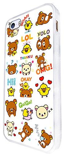 1123 - Cute Bears Collage Animals Design iphone SE - 2016 Coque Fashion Trend Case Coque Protection Cover plastique et métal - Blanc