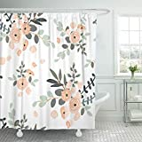 Blush Pink Shower Curtain Emvency 72