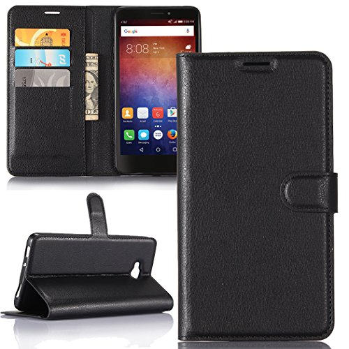 Lily Cell Phone Snap - Huawei Ascend XT ,Huawei AT&T / H1611 Case , Luxury Premium PU Leather Flip Stand Wallet Case With Card Slot Soft Inner Back Full Cover Fit For Huawei Ascend XT / AT&T [Best Share] , Black