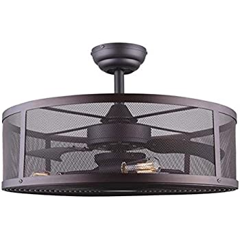 Fandelier Ceiling Fan Vintage Style And Dimmable Led