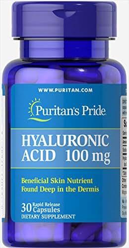 Puritan's Pride Hyaluronic Acid 100 mg-30 Capsules