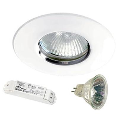 Kit foco halógeno - Color blanco empotrada para falso techo - Hidro - Aric