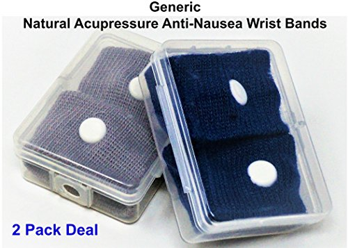 Acupressure Motion Sickness - Motion Sickness Relief Wrist Band-(2 Pack) Natural Nausea Treatment - Pleasant Cruise Essentials-Sea Magic Acupressure Morning Sickness & Sea,Travel, Car Sickness Relief Sea Band Wrist Band