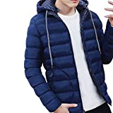 Moserian Men Autumn Winter New Cotton Coat Jacket Wind Hooded Thick Cotton Clothing