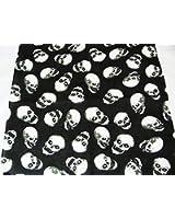 Top Brand Bandana carré avec crânes Noir/blanc 53 x 53cm