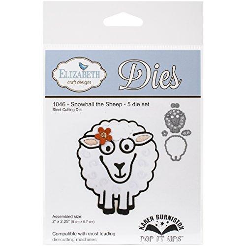 Elizabeth Craft Pop It Up Metal Dies By Karen Burniston-Snowball The Sheep