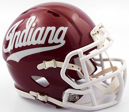 Riddell NCAA Indiana Hoosiers Script Indiana Logo Speed Mini Helmet, Crimson, Small