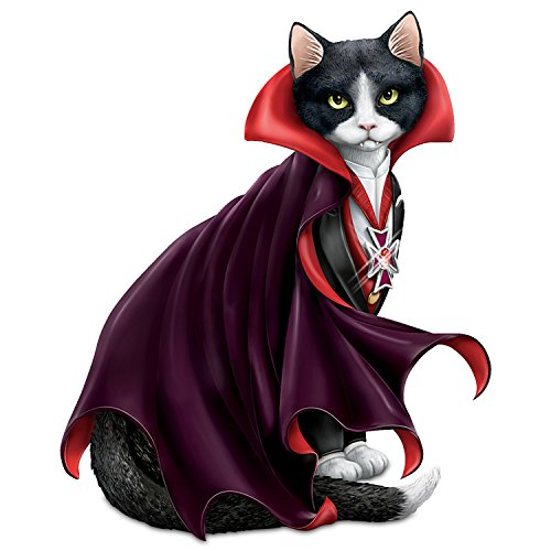 The Hamilton Collection Halloween Cat Vampire Figurine -