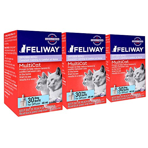 - Feliway Animal Health Multicat Feliway Refill (3 Pack)