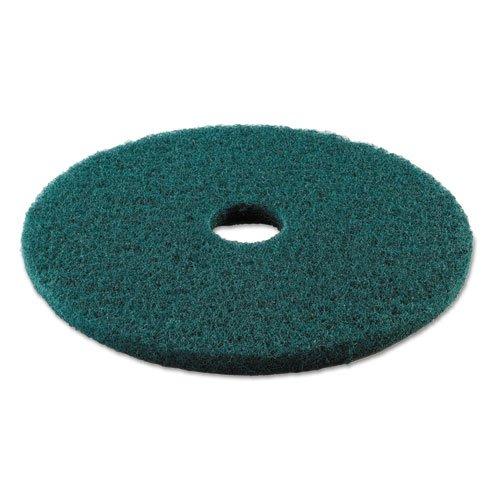 Premiere Pads Standard 19-Inch Diameter Heavy-Duty Scrubbing Floor Pads, Green - 5 pads per case.
