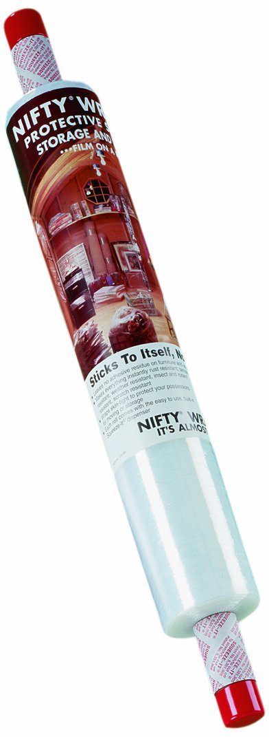 "Nifty Products FST72 Wrapper with Built-In Unique Dispenser, 1000' Length, 20"" Width, Clear"
