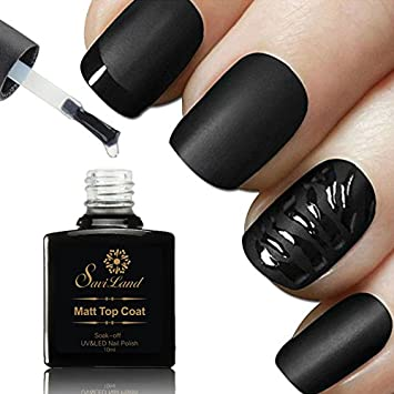 No Wipe Matte Top Coat Saviland No Cleaning Nail Polish Soak Off Uv Led Gel Polish Diy Nail Art 10ml