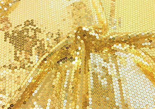 Somnus258 キラキラ スパンコール 生地 100cmX125CM ゴールド 衣装 テーブル 結婚式 宴会 パーテイ 飾り DIYの商品画像