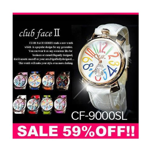 best website 342dd 621bd 腕時計 レディース clubface クラブフェイス(ブルーベルト×ホワイトフェイス)GaGa MILANOガガミラノ風