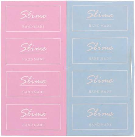 ruiruiNIE New Slime Containers Sticker Caja de Almacenamiento Sticker Slime Suministros Accesorios de Bricolaje - Rosa y Azul: Amazon.es: Hogar