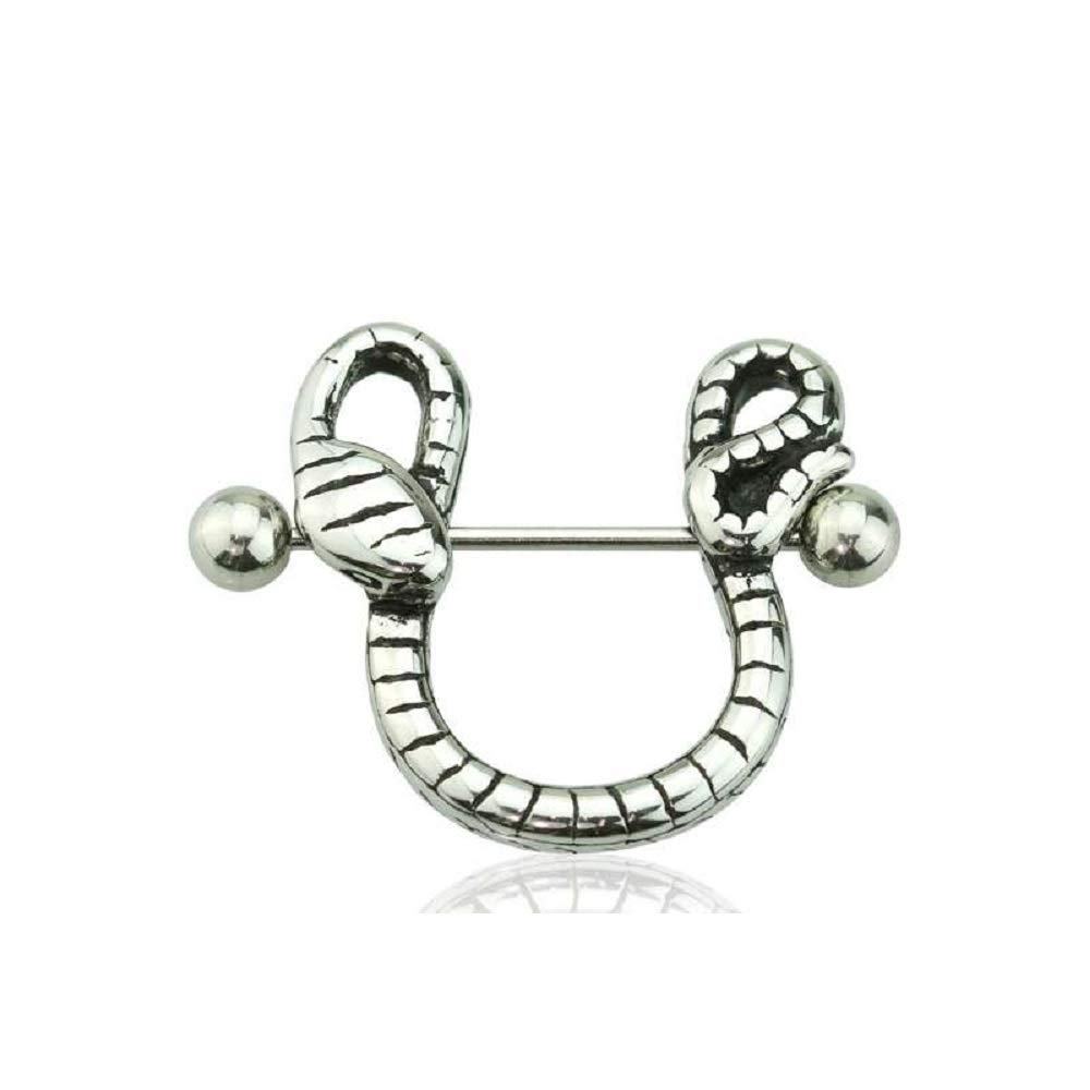 Freedom Fashion 316L Stainless Steel Snake Nipple Shield