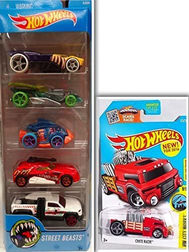 Hot Wheels Street Beasts Showdown Bundle: 2 Items- Street Beasts 5 Pack: Buzz Bomb, Draggin Tail, Piranha Terror, Turbo Turret, Diesel Duty & 1 Hotwheels Showdown Die Cast Metal Car: Amazon.es: Hogar