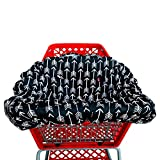 Shopping cart Covers for Baby | High Chair and Grocery Cover for Babies | Infants |Toddlers Trolley Seat for Boys and Girls (Black White Arrow)